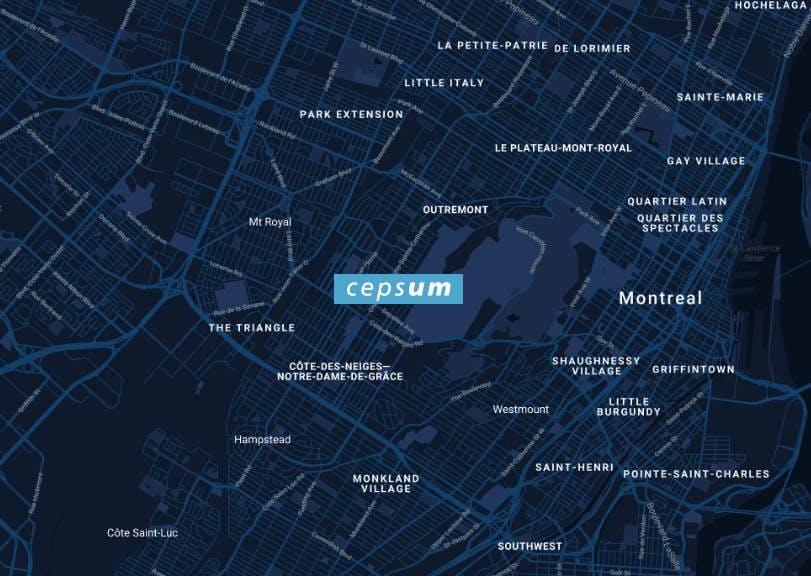 Lien externe vers l'adresse civique de Cepsum sur Google Maps