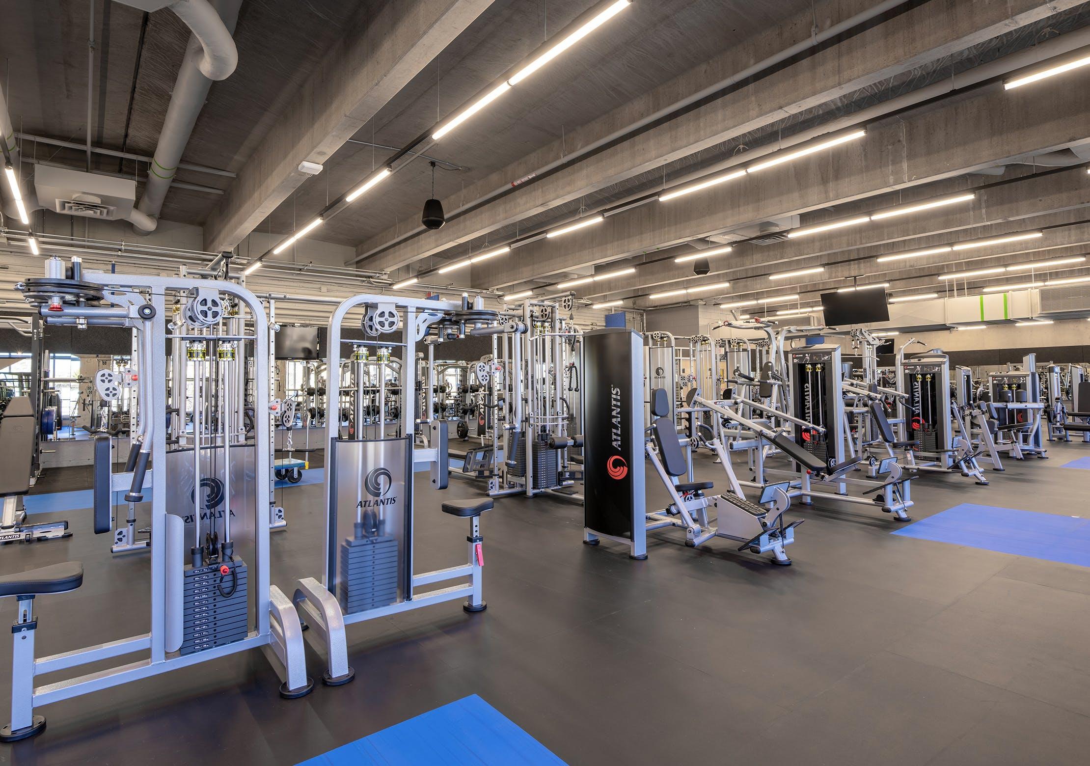 Salle d'entrainement - Zone d'appareils à charge sélective | CEPSUM